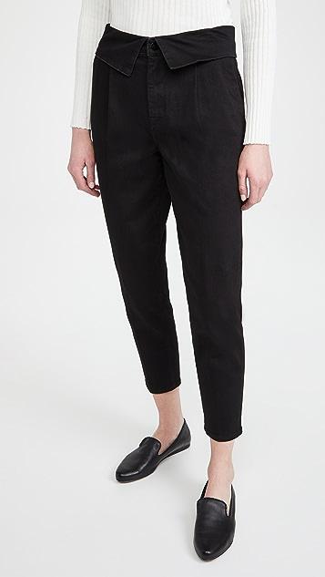J Brand 正面裥褶翻折长裤