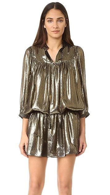 Just Cavalli Metallic Drop Waist Dress