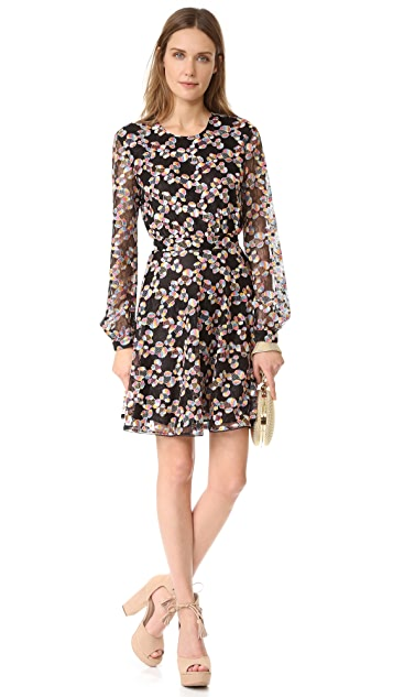 Just Cavalli Long Sleeve Lace Dress