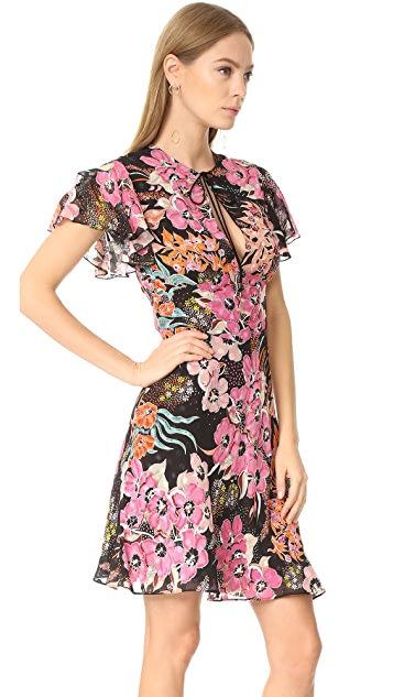 Just Cavalli Floral Lace Up Dress