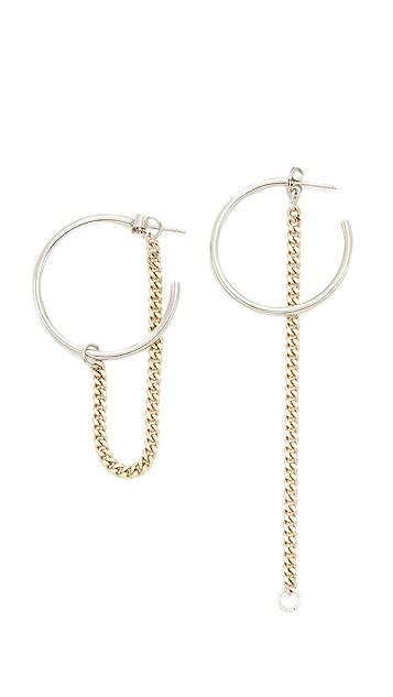 Justine Clenquet Julia Hoop Earrings