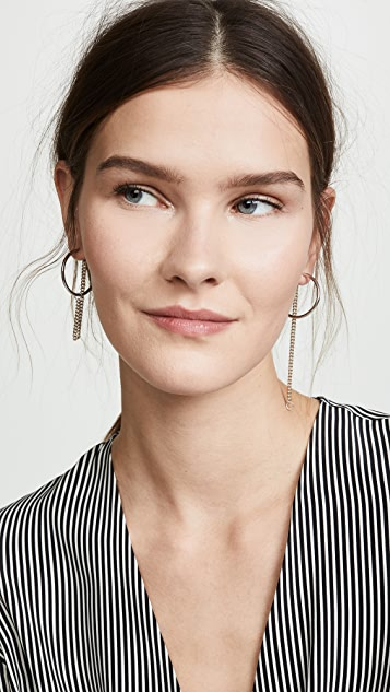 Justine Clenquet Серьги-кольца Julia