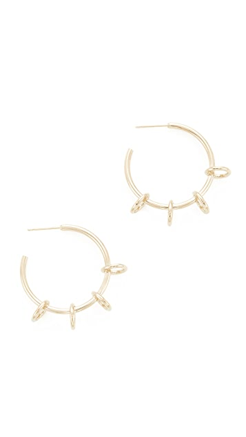 Justine Clenquet Ada Hoop Earrings