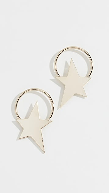 Justine Clenquet Bowie Earrings