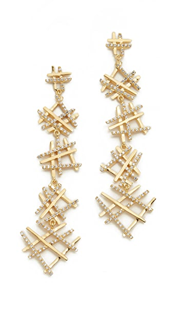 Joanna Laura Constantine Hashtag Drop Earrings