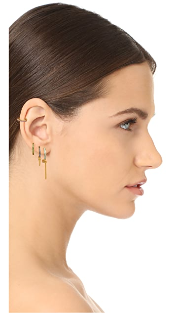 Joanna Laura Constantine Nail Hoop Earring Set