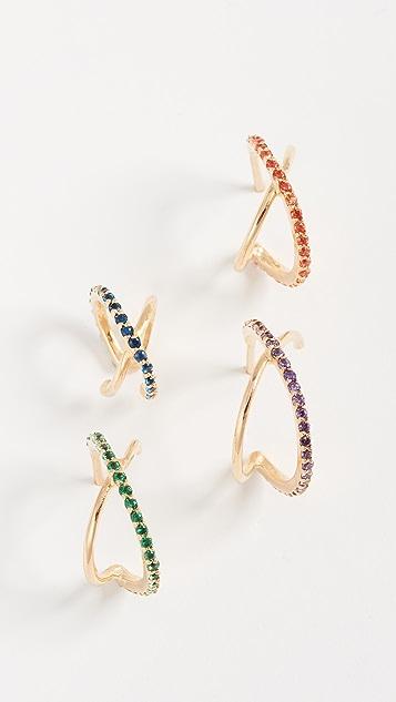 Joanna Laura Constantine Crisscross Earring Set - Gold