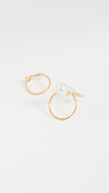 Joanna Laura Constantine Set of Two Imitation Pearl Knot Rings