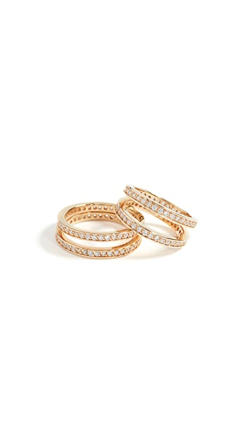Joanna Laura Constantine Crisscross Ring Set