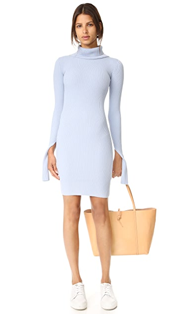Jacquemus Turtleneck Rib Dress