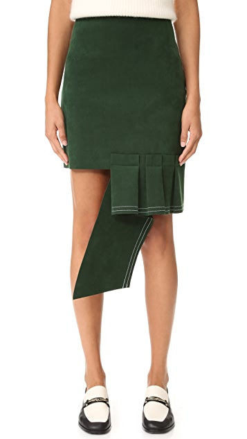 Jacquemus Volant Horizontal Mini Skirt