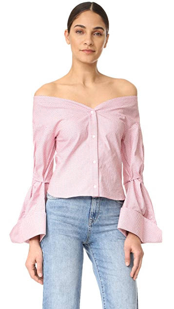 Jacquemus Off the Shoulder Blouse