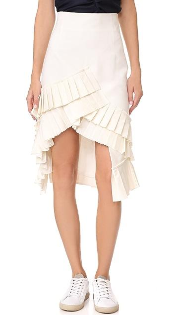 Jacquemus Seville Ruffle Skirt