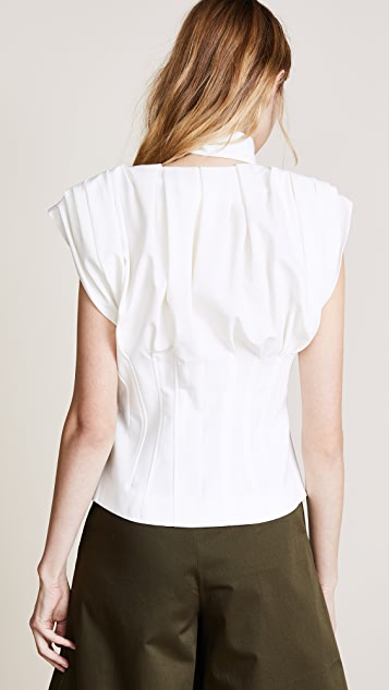 Jacquemus Pleated Sleeveless Blouse