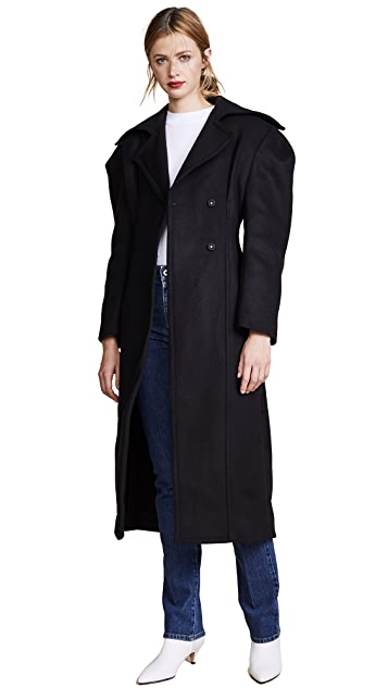 Jacquemus Cinched Waist Overcoat