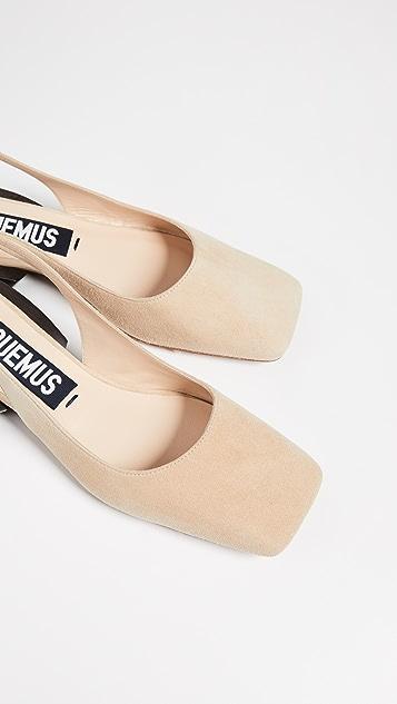 Jacquemus Les Chaussures Praia Slingback Flats