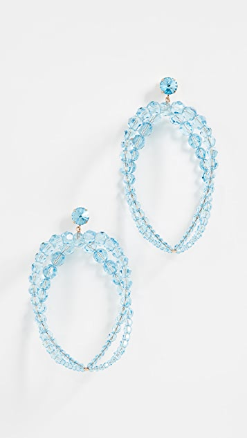 Jacquemus Les Boucles Cristalli Swarovski Crystal Earrings