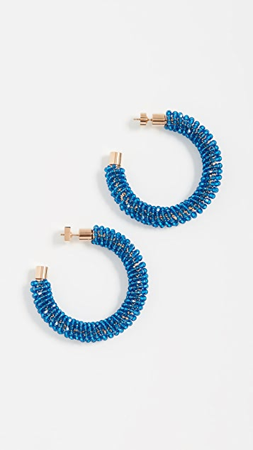 Jacquemus Les Creoles Brila Swarovskii Crystal Earrings