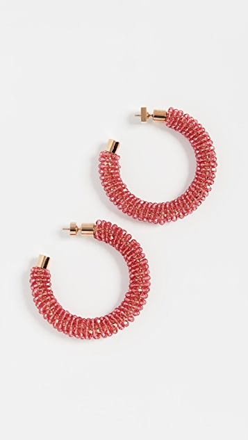 Jacquemus Les Creoles Brila Swarovski Crystal Earrings