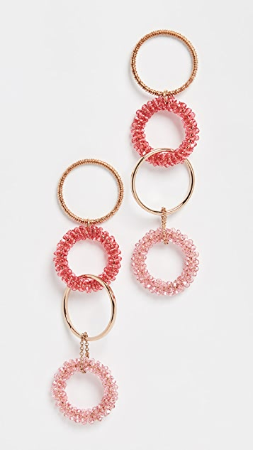 Jacquemus Les Boucles Riviera Swarovski Crystal Earrings