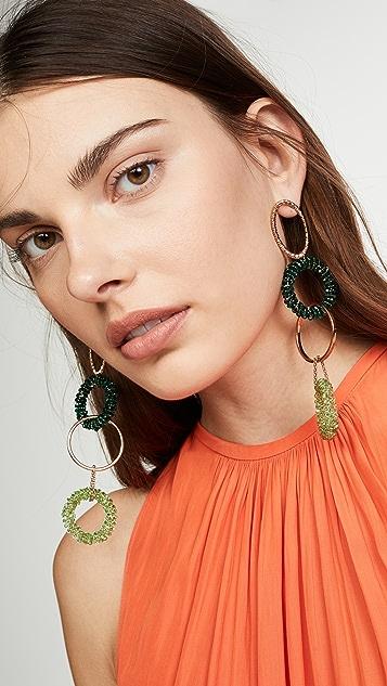 Jacquemus Les Boucles Riviera Swarovski Crystal Earrings