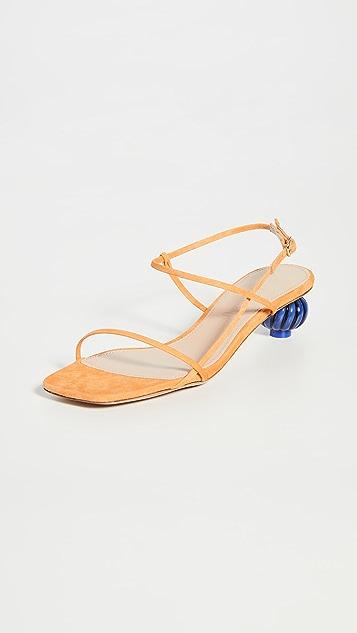 Jacquemus Manosque 绒面革凉鞋