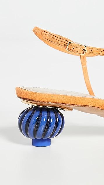 Jacquemus Manosque Suede Sandals