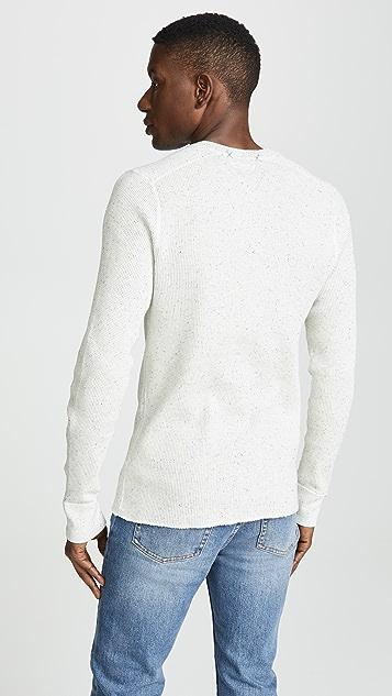 J. Crew W & B Thermal Henley Shirt