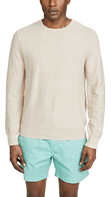 J. Crew Cotton Garter Crew Neck Sweater