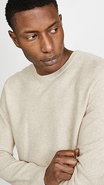 J. Crew Cotton Garter Crew Neck Sweater