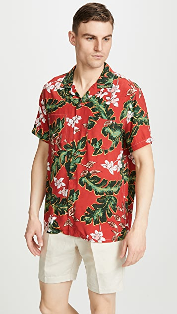 J. Crew Short Sleeve Printed Camp Collar Shirt