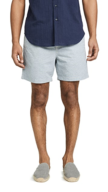 J. Crew Dobby Stripe Stretch Dock Shorts