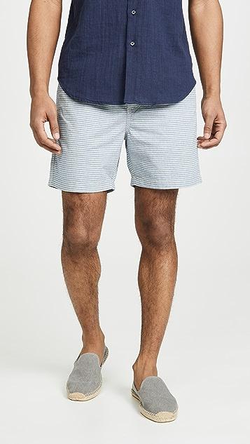 J. Crew Dobby Stripe Stretch Dock Shorts