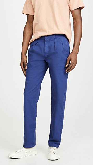 J. Crew Garment Dye Canvas Double Pleated Pants