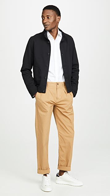 J. Crew Garment Dye Canvas Double Pleated Pants