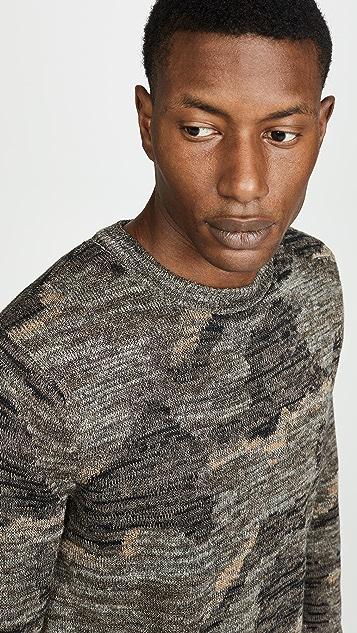 J. Crew Wallace & Barnes Camo Print Sweater