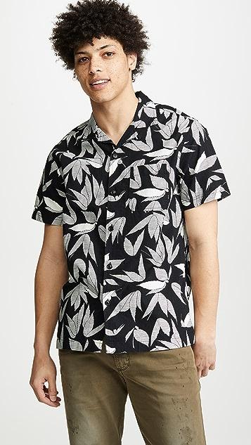 J. Crew Wallace & Barnes Camp Collar Printed Shirt