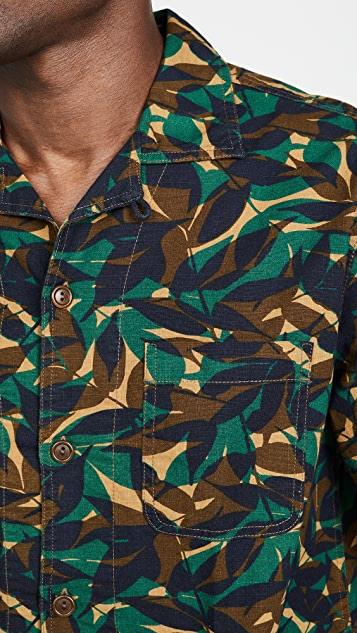 J. Crew Wallace & Barnes Forest Camo Shirt