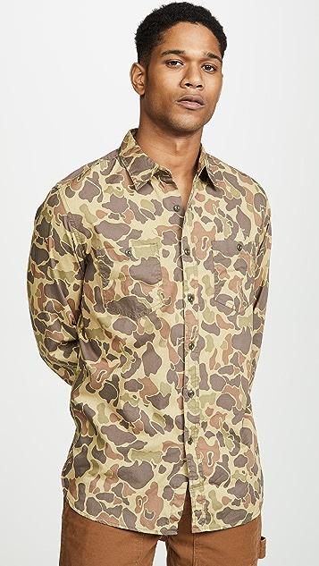 J. Crew Wallace & Barnes Forest Camo Shirt