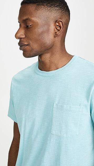 J. Crew Garment Dye Pocket Crew Neck T-Shirt