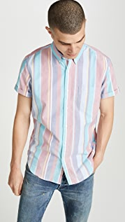 J. Crew Short Sleeve Pima Oxford Striped Shirt