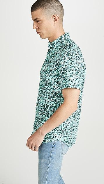 J. Crew Short Sleeve Delave Linen Floral Shirt
