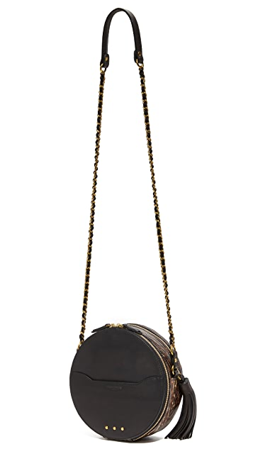 Jerome Dreyfuss Snakeskin Remi Circle Bag