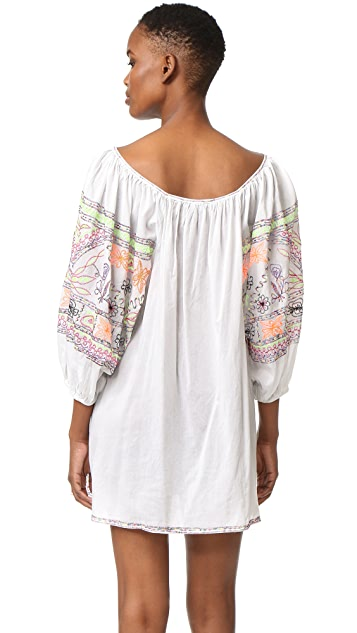 Juliet Dunn Embroidered Cover Up Dress
