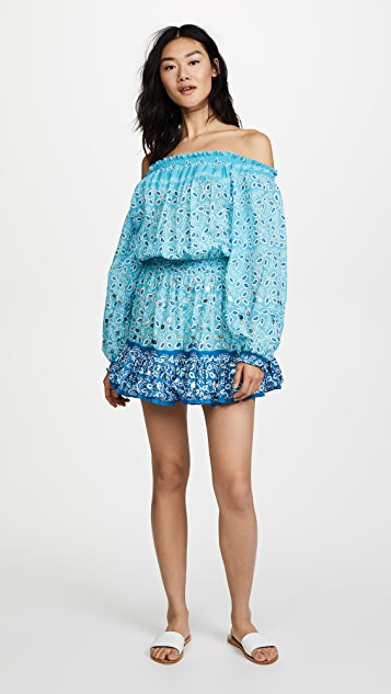 Juliet Dunn Off the Shoulder Mini Dress