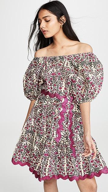 Juliet Dunn Blouson Dress - Magenta