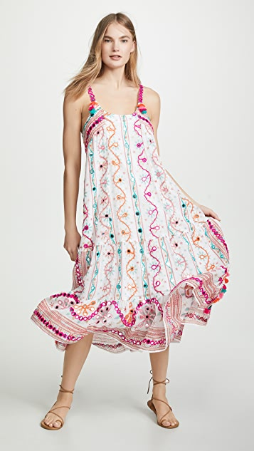 Juliet Dunn Tassel Maxi Dress