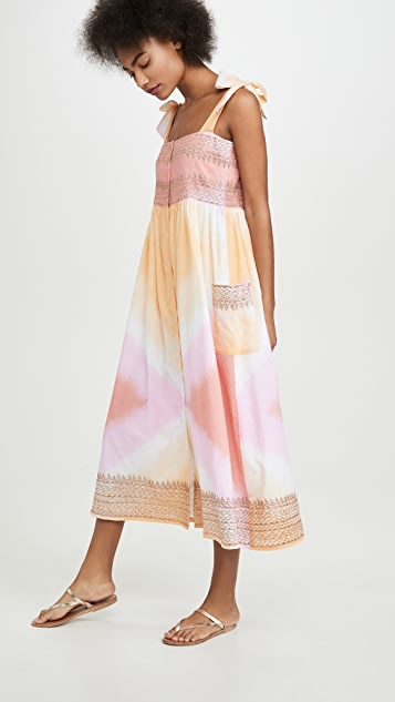 Juliet Dunn Tie Dye Shoulder Cover Up Dress