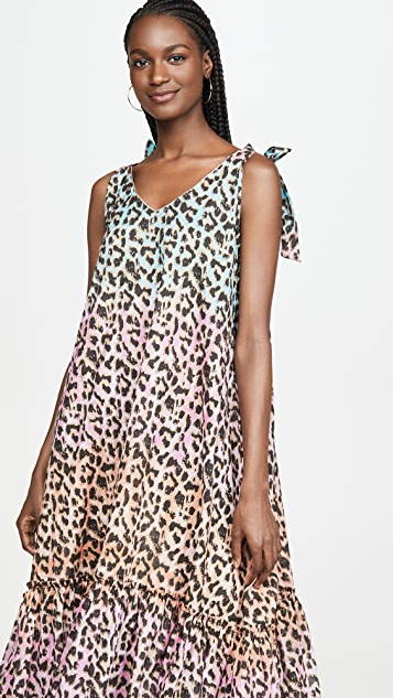 Juliet Dunn Leopard Print Maxi Cover Up Dress