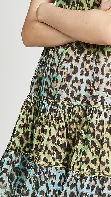 Juliet Dunn Leopard Strappy Dress